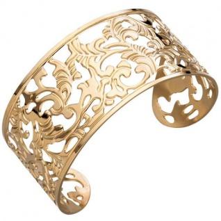 Armspange / offener Armreif aus Edelstahl gold farben beschichtet