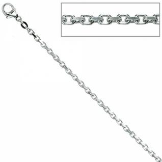 Ankerkette 925 Sterling Silber rhodiniert 2, 0 mm 60 cm Halskette