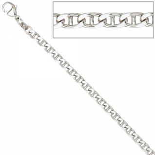 Armband 925 Sterling Silber rhodiniert 21 cm Karabiner - Vorschau 2