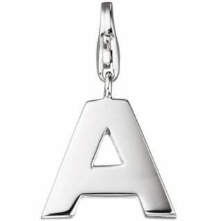 Einhänger Buchstabe A 925 Sterling Silber Anhänger für Bettelarmband