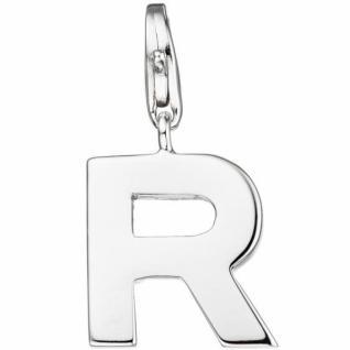 Einhänger Buchstabe R 925 Sterling Silber Anhänger für Bettelarmband
