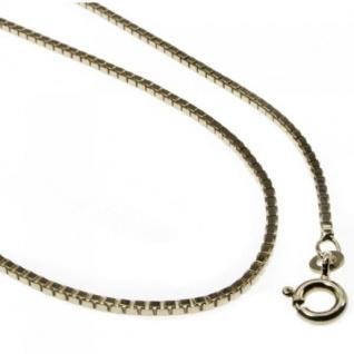 38 cm Venezianerkette - 585 Weißgold - 0, 9 mm Halskette