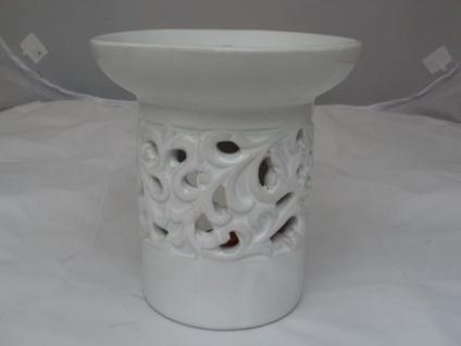 Duftlampe aus Keramik in Weiß 12, 5 cm hoch