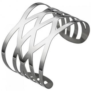 Armspange offener Armreif aus Edelstahl Armband breit, 49, 8 mm