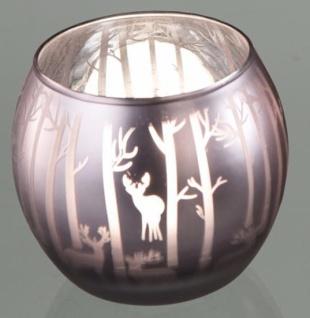 formano Windlicht Waldzauber aus satiniertem Glas, 8 cm