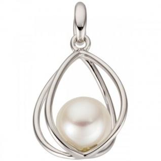 Anhänger 585 Gold Weißgold 1 Süßwasser Perle