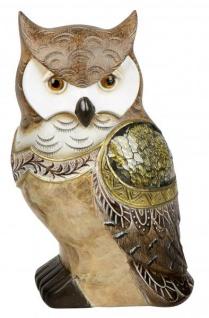 Eule Owl Eulen-Figur Deko-Kautz Herbsteule Herbstdeko/Weihnachten Wintereule Mosaik Spiegel Antik 19cm Groß