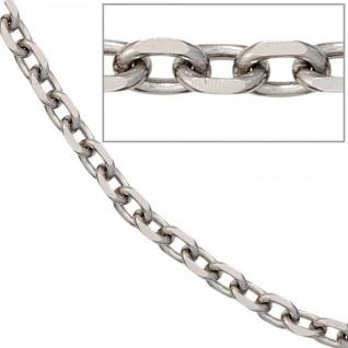 Ankerkette Edelstahl 80 cm Halskette Kette Karabiner 4, 3 mm breit