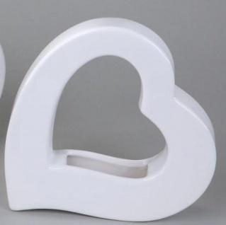 Deko Vase Herz aus Keramik, 18 cm