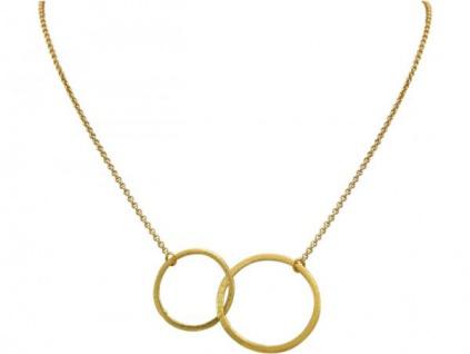 Halskette Anhänger Eternity Kreise Infinity Design Gold 45 cm