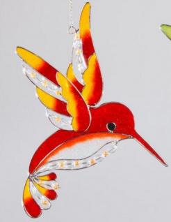Fensterschmuck Eisvogel Tiffanyglas in Orange