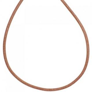 Leder Halskette Kette Schnur natur 100 cm