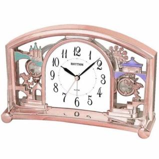 Rhythm 7535/18 Tischuhr Quarz mit Pendel rosa rosegold farben