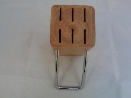 Messerblock aus Holz und Metall