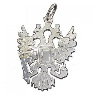 Kettenanhänger Russischer Adler aus 925 Silber - 35 mm