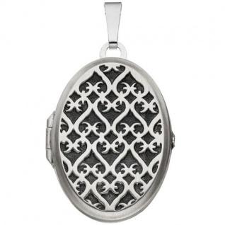 Medaillon 925 Sterling Silber rhodiniert mattiert