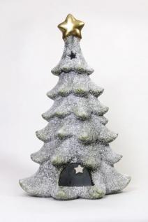 Winterliches Windlicht Tannenbaum mit Durchbrüchen, 48 cm