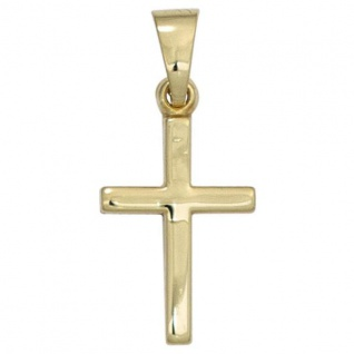 Anhänger Kreuz 333 Gelbgold