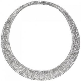 Collier Statement Halskette 585 Weißgold 42 cm Weißgoldkette breit
