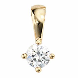 Anhänger 585 Gelbgold 1 Diamant Brillant 0, 15 ct. Solitär