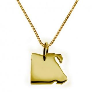 ÄGYPTEN Kettenanhänger aus massiv 585 Gelbgold mit Halskette