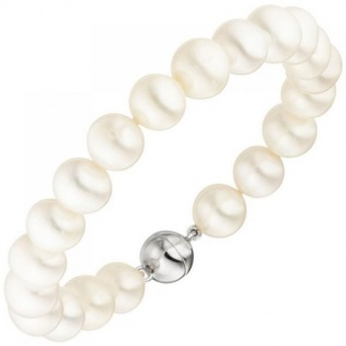 Armband Süßwasser Perlen und 925 Sterling Silber 19 cm Perlenarmband