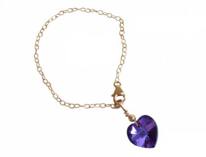 Herz Armband *blau-violett* With Swarovski Elements® - Vorschau