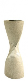 GILDE Moderne Vase aus der Champagner Keramik Serie, 54 cm
