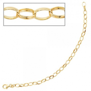 Armband 333 Gold Gelbgold 19 cm - 4, 9 mm Goldarmband Karabiner