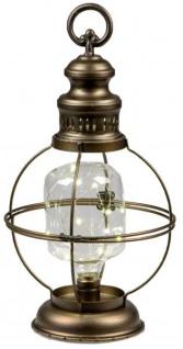 Trendige Laterne im nordischen Stil mit LED Beleuchtung 21x14x40 cm