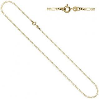 Figarokette 333 Gelbgold 2, 3 mm 50 cm Halskette Federring