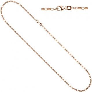 Ankerkette 925 Silber Rotgold vergoldet 80 cm Halskette Karabiner
