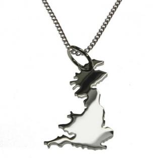 ENGLAND Kettenanhänger aus massiv 925 Silber mit 50 cm Halskette
