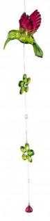 Dekohänger Eisvogel aus Acryl grün 48 cm