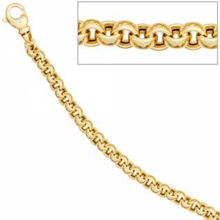 Erbsarmband 585 Gold Gelbgold 19 cm Armband Karabiner - Vorschau 1