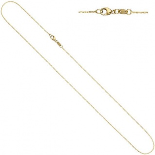 Ankerkette 585 Gelbgold diamantiert 0, 6 mm 42 cm Halskette