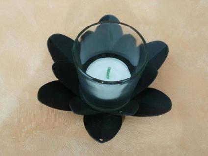Teelichthalter Blüte mit Glas