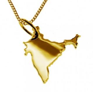 INDIEN Kettenanhänger aus massiv 585 Gelbgold mit Halskette