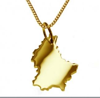 LUXEMBURG Kettenanhänger aus massiv 585 Gelbgold mit Halskette