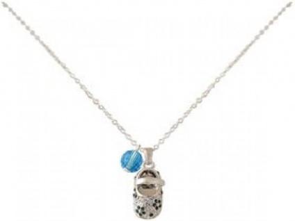 Halskette Anhänger 925 Silber Schuh Blau WITH SWAROVSKI ELEMENTS®