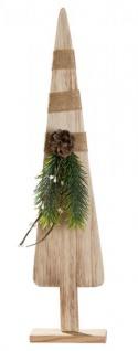 moderner Deko-Baum Weihnachtsbaum Weihnachtsdekoration aus Holz Christbaum Adventsdeko Holztanne Deko-Tanne Tannenbaum Natur-Deko 46cm