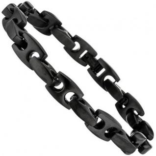 Armband aus Edelstahl mit PVD-Beschichtung matt schwarz 23, 5 cm