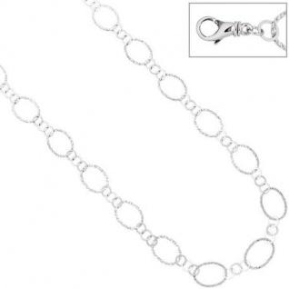 Halskette Kette 925 Sterling Silber mit Struktur 80 cm Karabiner