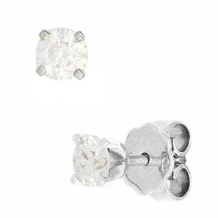 Ohrstecker 585 Weißgold 2 Diamanten Brillanten 0, 25ct. Ohrringe