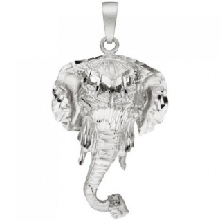 Anhänger Elefant 925 Sterling Silber teil matt Silberanhänger