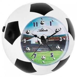 Atlanta 1197 Wecker Kinderwecker weiß schwarz Fußball Wecker