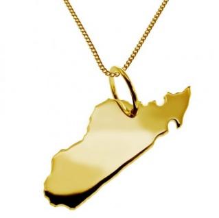 MADAGASKAR Kettenanhänger aus massiv 585 Gelbgold mit Halskette