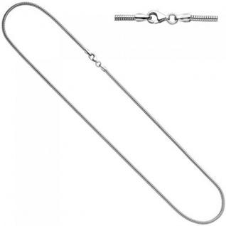 Schlangenkette 925 Silber 1, 9 mm 60 cm Halskette Kette Silberkette Karabiner