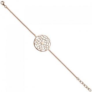 Armband 925 Sterling Silber rotgold vergoldet 22 cm Silberarmband