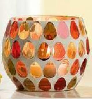 Windlicht aus gepunktetem Glas, 8 x 6, 5 cm